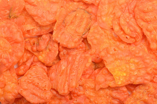 Crunchy carrot chips are delicious and easy.