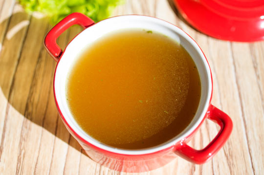 Bone broth is easy and nutritious.