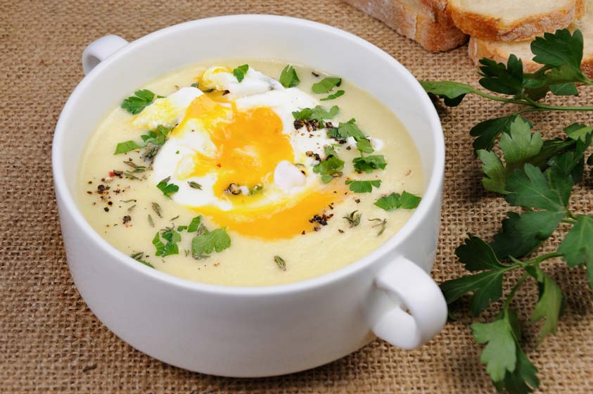 Try this healthier version of potato soup.