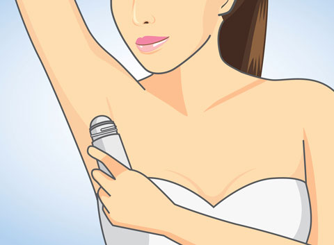 Aluminum and other ingredients in antiperspirant may be harmful.