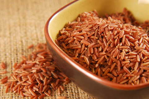 Red rice is a whole grain like brown rice.