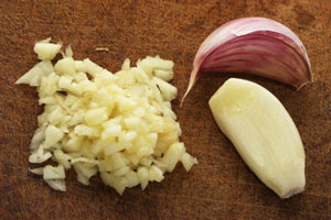 Letting cut garlic rest before cooking makes it healthier.